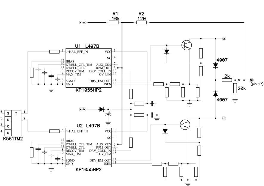 Схема тахометра от рижской